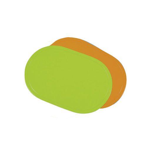 Tischset, oval, Einzelfarben nach Wahl, 12Stk.