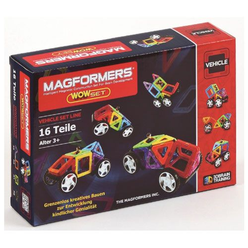 Magformers Vehicle Wow Set, 16 teilig
