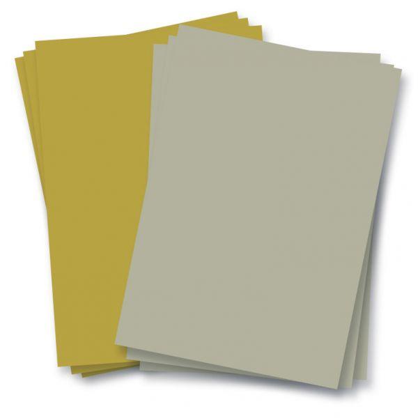Tonpapier 130g. gold oder silber