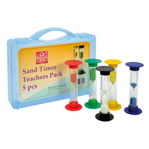 Sanduhren, 5er Set groß, Ø 5,5 cm Höhe 15 cm