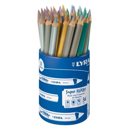 Lyra-Super Ferby metalic, lackiert, 36er Sortiment