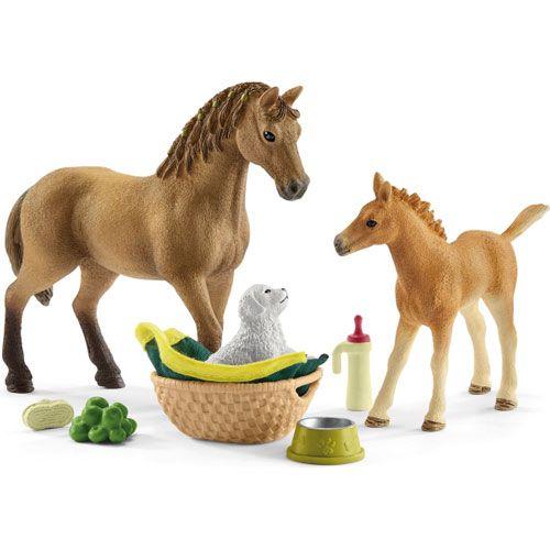Schleich Horse Club Set Tierbaby-Pflege und Pferde Quarter Horse