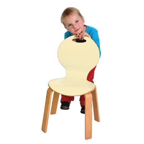 Kinderstuhl PEARL, Sitzhöhe 35 cm, Vanille