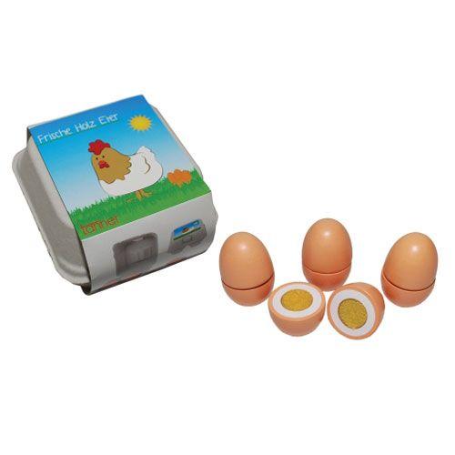Tanner-Eier zum Schneiden, aus Holz