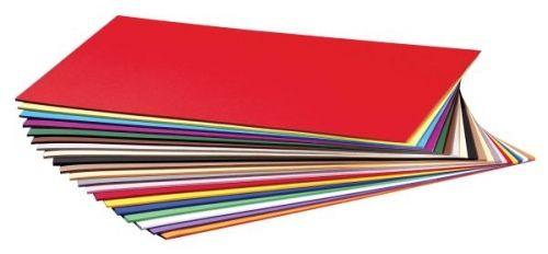 Bastelkarton glatt, 220g. Sortiment mit 200 Bogen