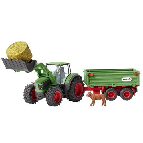 Schleich Farm WorldTraktor mit Anhänger