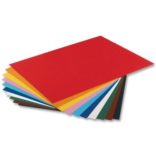 Tonpapier, 130 g/m², 50 x 70 cm, 10 Bogen farbig sortiert