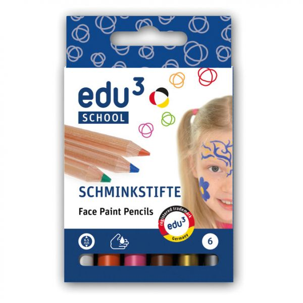 edu³ Schminkstifte plus, 6 Stk.