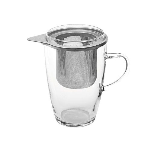 Teeglas, m. Metallsieb, m. Deckel, 350 ml