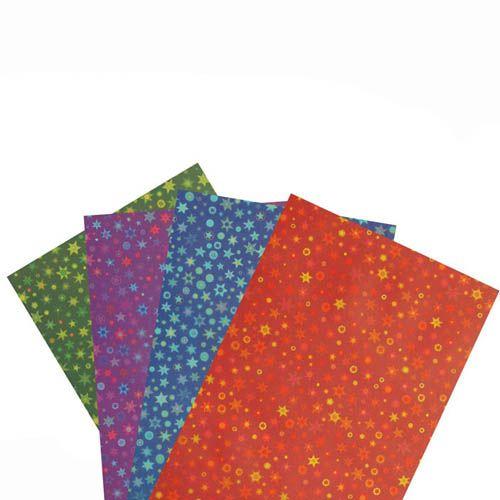 Transparentpapier Zuschnitte, Sternlis, 19,5 x 50 cm, 115 g/m², 20 Bogen