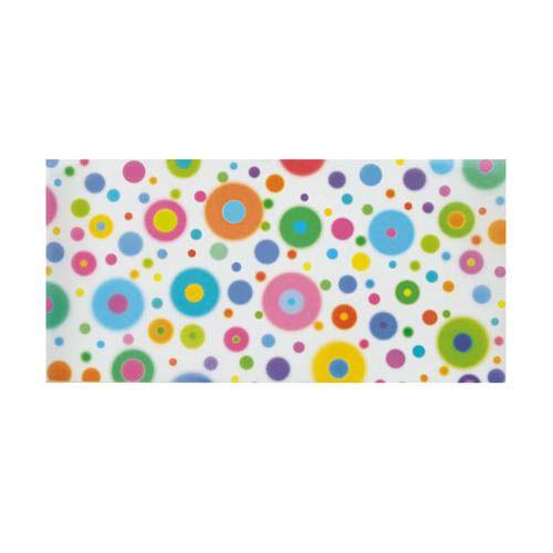 Transparentpapier Zuschnitte mini, Bonbon bunte Kreise, 15,5 x 37 cm, 10 Bogen
