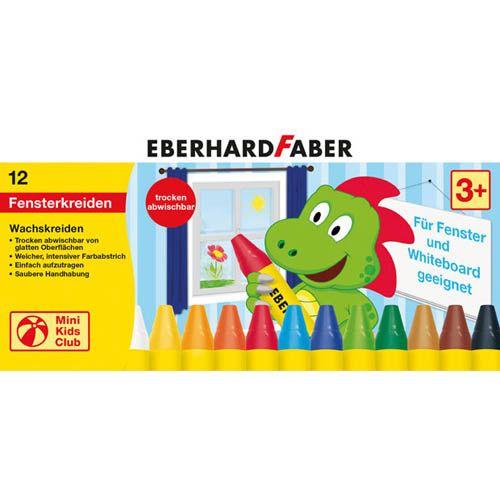 Eberhard Faber Wachsmalkreide für Fenster, 12 Stk.