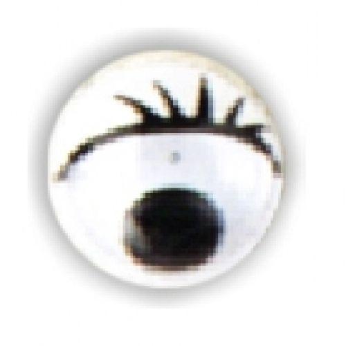 Wackelaugen mit Wimpern, Ø 7 mm