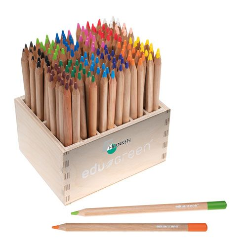 edu green, Holzaufsteller mit 144 Stiften