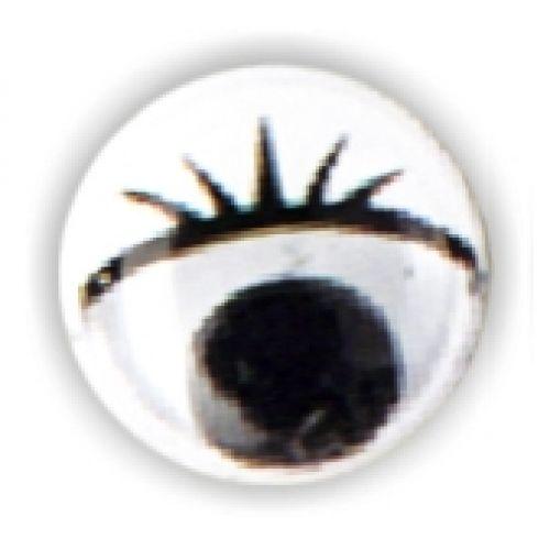 Wackelaugen mit Wimpern, Ø 10 mm