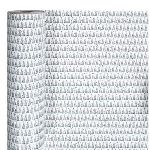 Geschenkpapier Rolle Tannenbäume, B 57 cm x L 150 cm