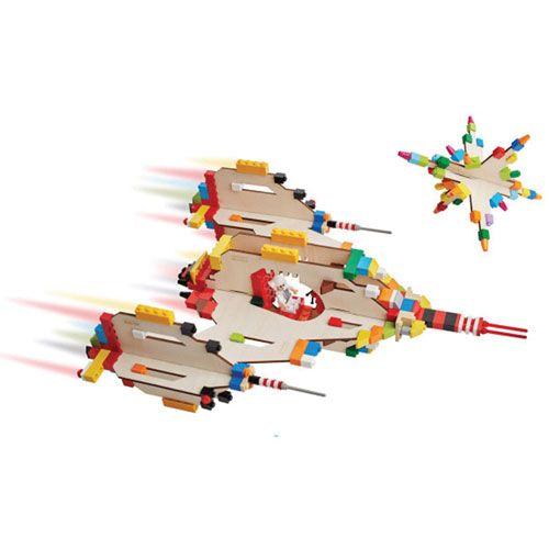 3D Puzzle für Bausteine Raumschiff
