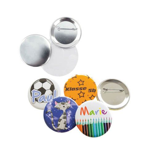 Button Rohmaterial Set, reicht für 100 Stk.