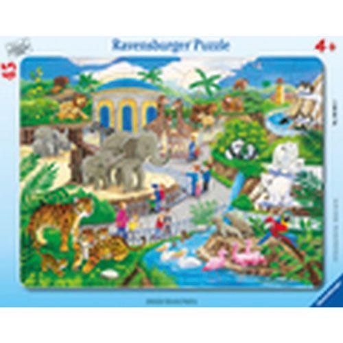 Rahmenpuzzle Besuch im Zoo, 45 Teile