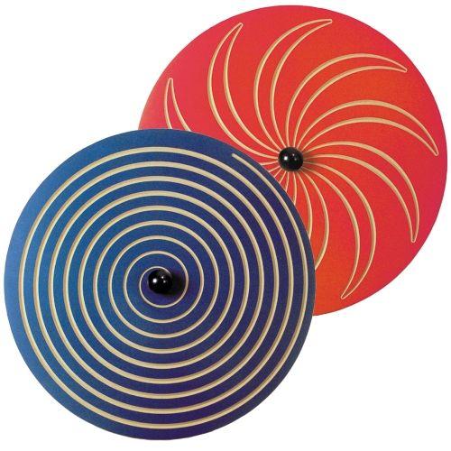 Wandkreisel Spirale blau