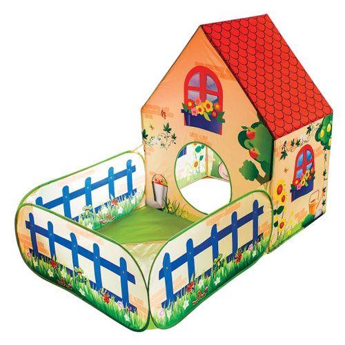 Pop-up Spielhaus mit Bällebad, (ohne Bälle)