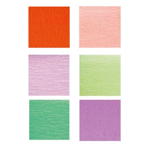 Krepp-Papier Pastellfarben, 2,5 m x 50 cm, 10 Rollen pro Farbe, Einzelfarben nach Wahl