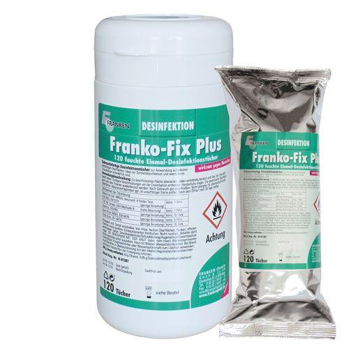 Franko-Fix Plus Dose und Nachfüllpackung, 13,5 x 20 cm, 240 Tücher