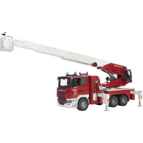 Bruder Scania Feuerwehrleiterwagen plus Licht und Sound Module