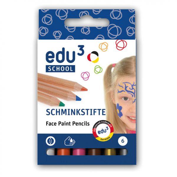 edu³ Schminkstifte plus, 6 Stk.