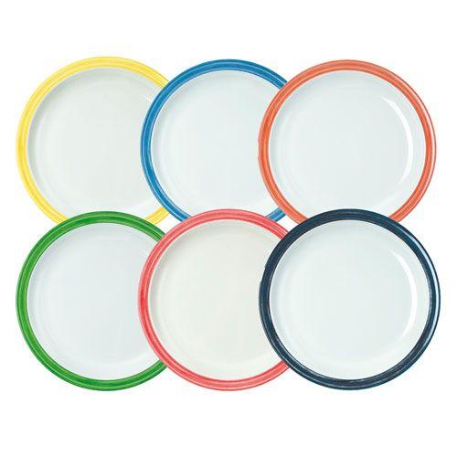 Teller flach, Ø 23,5 cm, 5 Stk., Einzelfarben nach Wahl