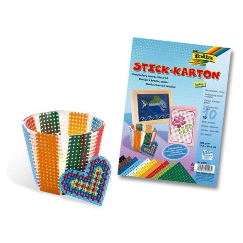 Stickkarton farbig, 300g/m², 17,5 x 24,5 cm, 40 Blatt