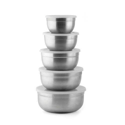 Küchenschüssel, 5er Set mit Aromaschutzdeckel