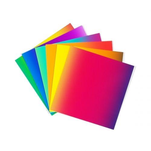Regenbogen-Faltpapier, 20 x 20 cm