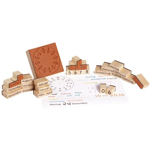 Holzstempel Kalender 30 teilig