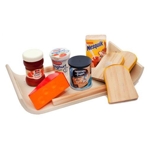 Frühstücks-Set aus Holz