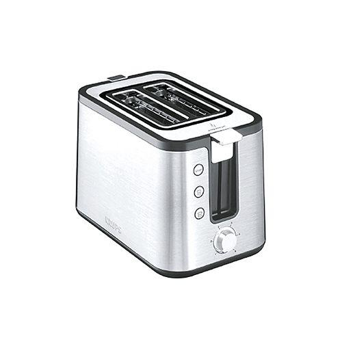 Toaster, 700 Watt, Edelstahl/schwarz