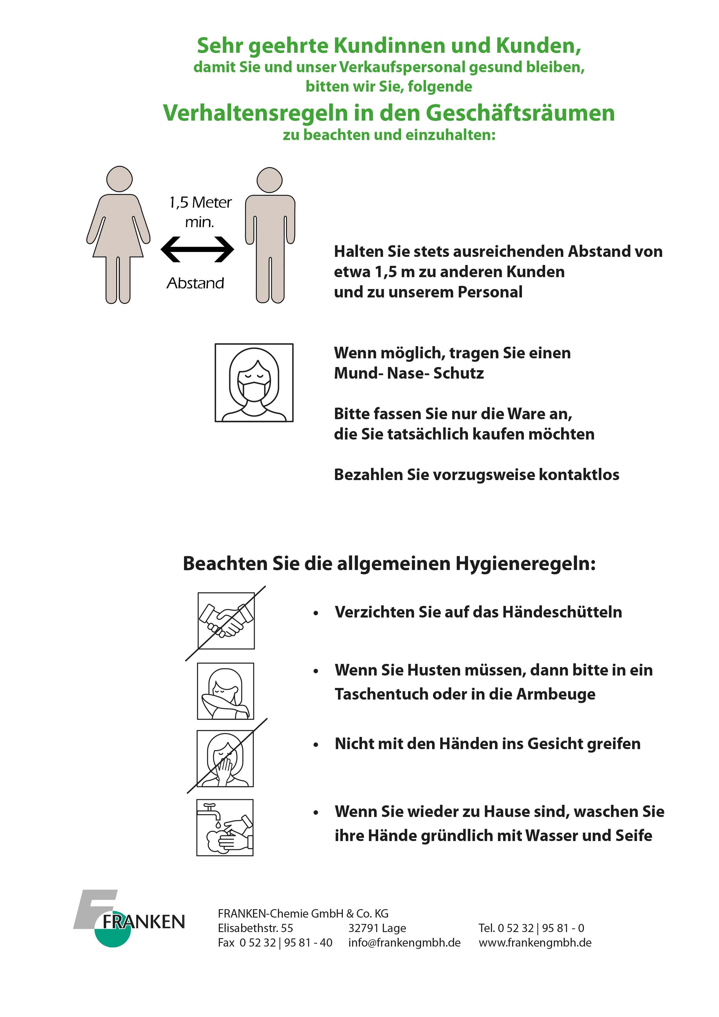 Verhaltensregeln Handel und Handwerk