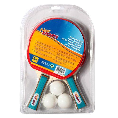 New Sports Tischtennis-Set, 2 Schläger+3 Bälle