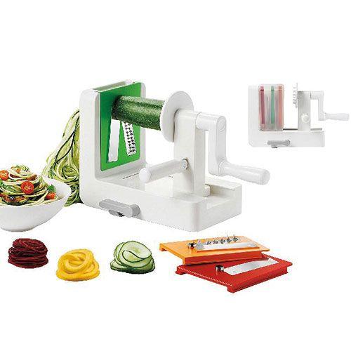 Tisch-Spiralschneider, Kunststoff/Edelstahl, 20 x 15 x 12 cm
