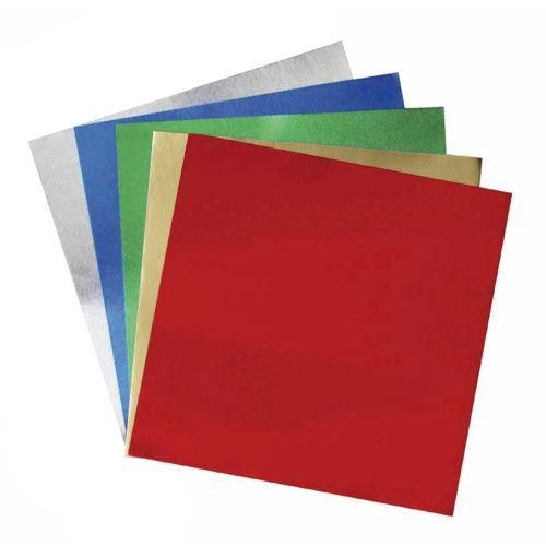 Alu-Faltblätter, 10 x 10 cm, 50 Blatt, Sortiment