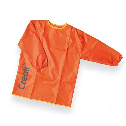 Malkittel mit Arm, orange, klein, Größe: 98-116