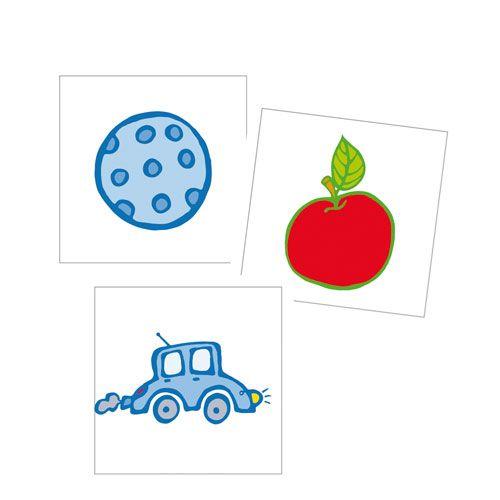 Erkennungsschilder Aufkleber-Gegenstände, 24er, 3,5 x 3,5 cm