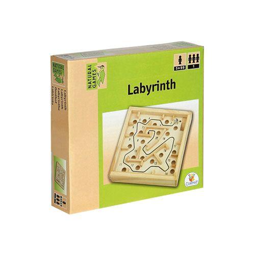 Natural Games Holz Labyrinth, 12 x 12 cm