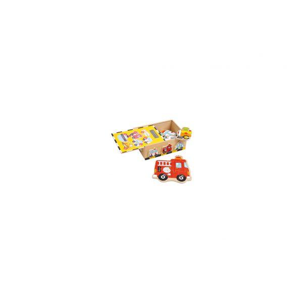 Puzzlebox Fahrzeuge, 7-teilig