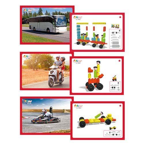 Poly M Kartensets Fahrzeuge 15 Vorlagekarten Bausteine