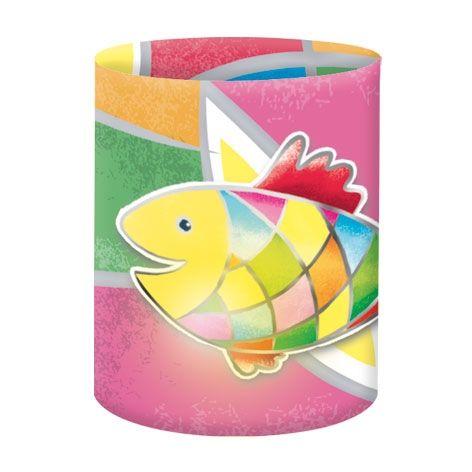 Mini Tischlichter Fisch, Zuschnitte, 10 x 27 cm, 5 Stk.