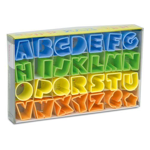 Ausstecher Set Alphabet, 28-teilig