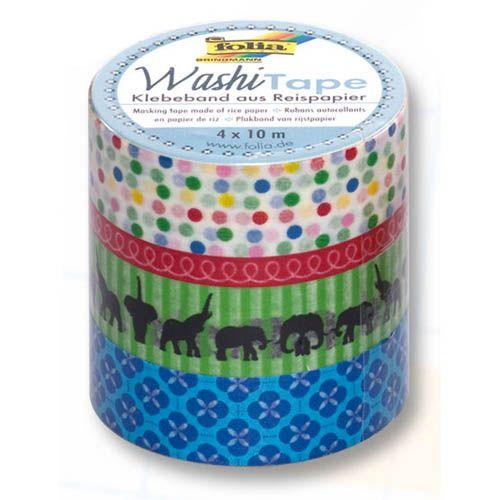 Washi Tape Set Happy Birthday, 4 x 10 m