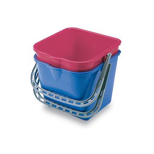 Kunststoffeimer 15 Liter, in blau oder rot