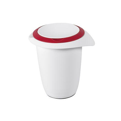 Quirl- / Rührtopf mit Deckel, 1 l, rot